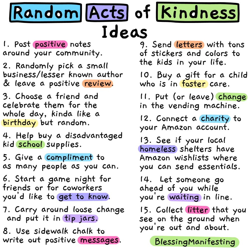 56 Random Acts of Kindness Ideas