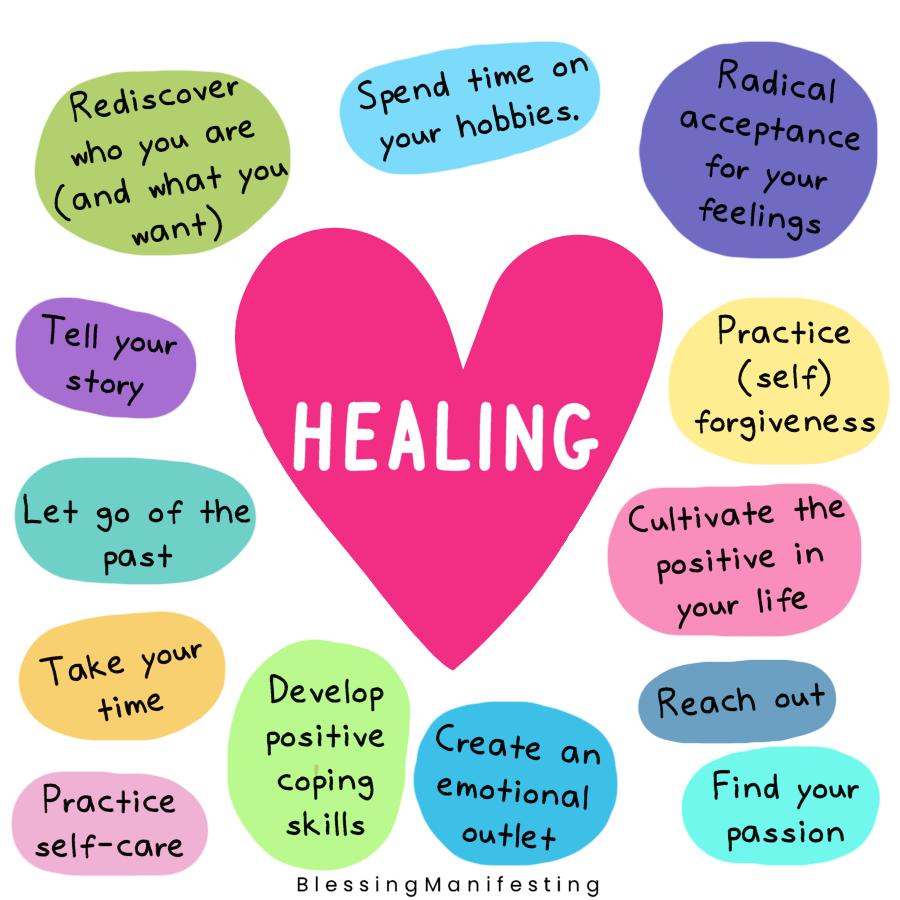 emotional healing self-care meme