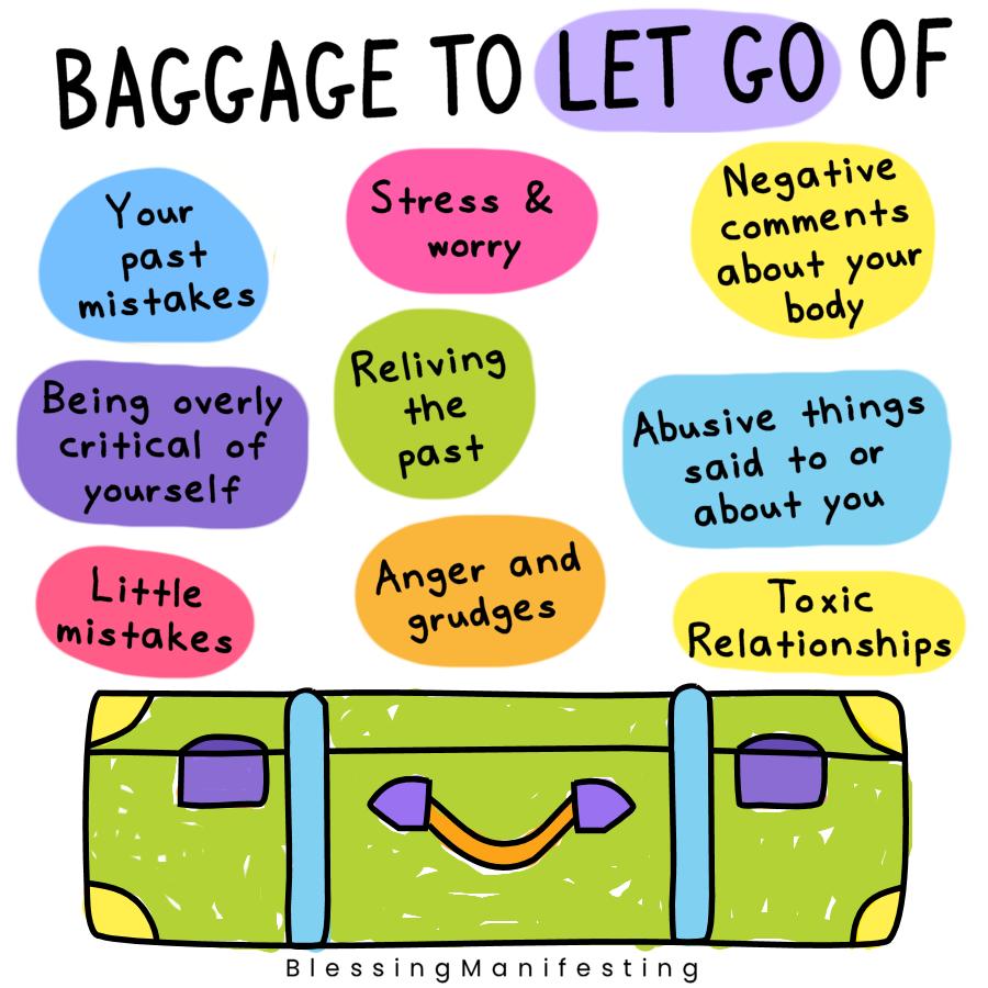 emotional baggage self-care meme