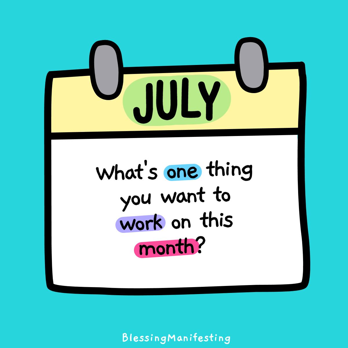 July Self-Care + Summer Goals!