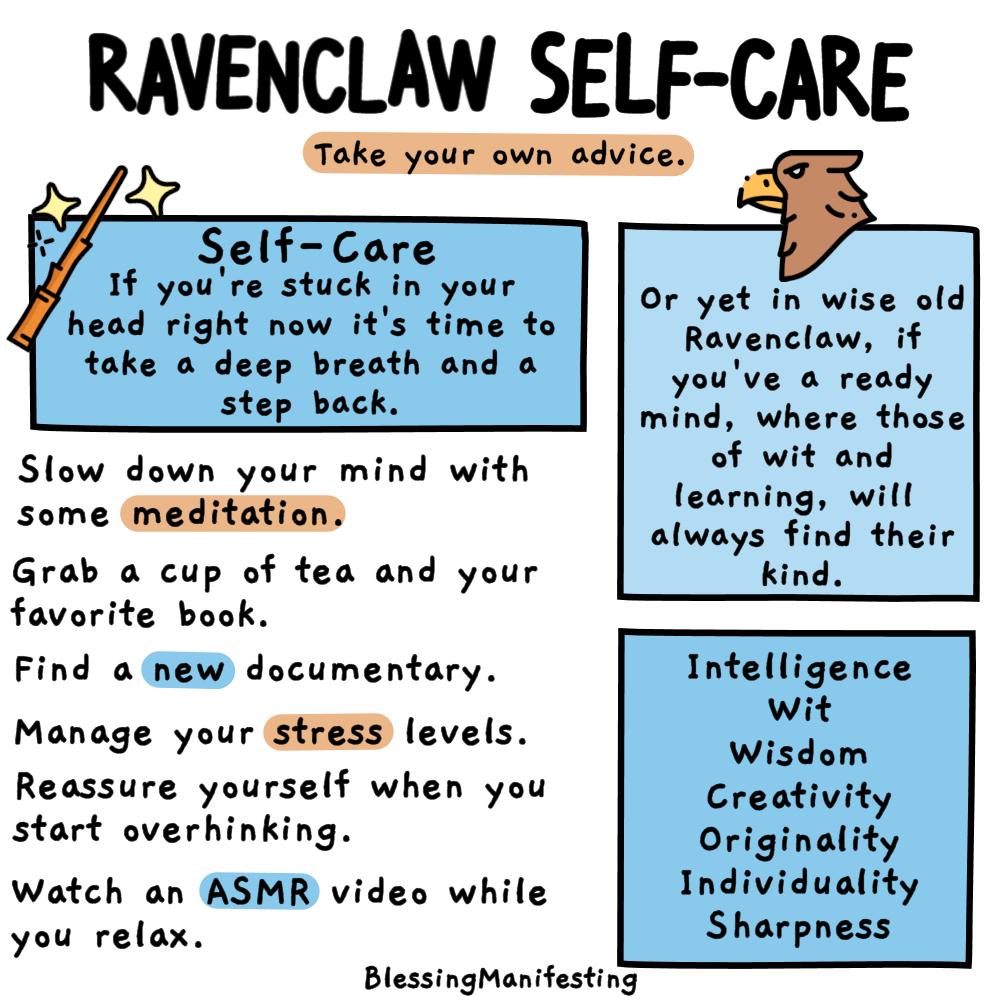 ravenclaw self-care