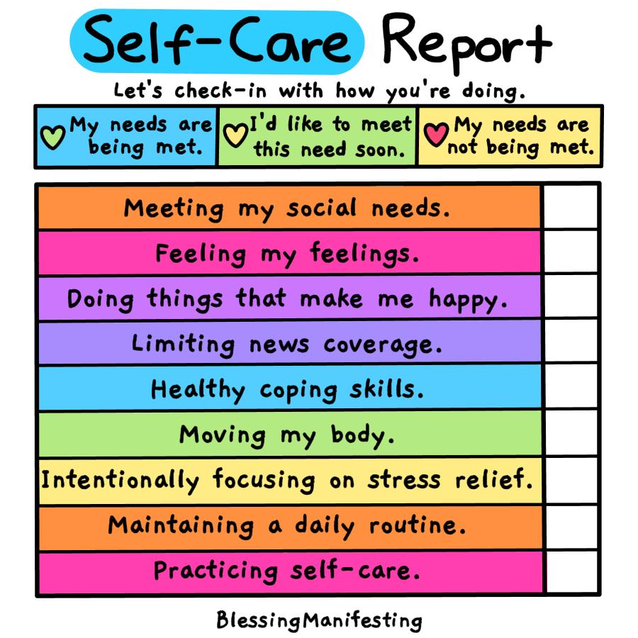 lonely self-care checklist