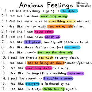 The Underlying Anxious Feelings